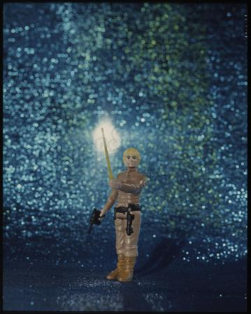 "Lot # 137: Luke Skywalker (Bespin Fatigues) Figure Kenner Photo Transparency (4""x5"")"