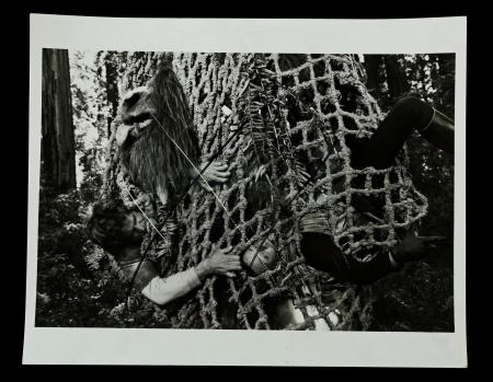 Lot # 139: Lucasfilm Reference Photo of Heroes Trapped in Ewok Net