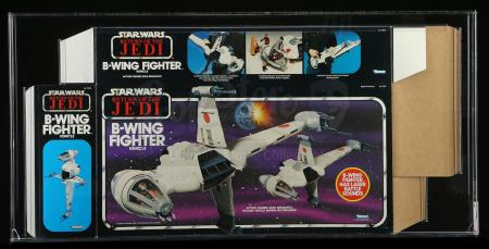 Lot # 144: B-Wing Fighter Box Flat AFA 80+