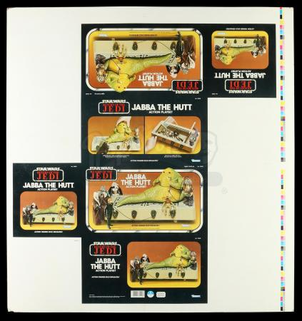 Lot # 146: Jabba The Hutt Action Playset Proof Sheet