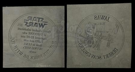Lot # 152: Jawas Coin Original Etching Masters (Front and Back)