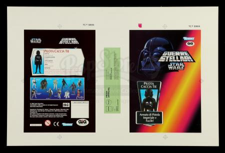 Lot # 165: Italian TIE Fighter Pilot Proof Sheet