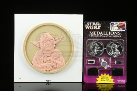 Lot # 171: Yoda Medallion 3:1 Original Wax Sculpting and Production Example