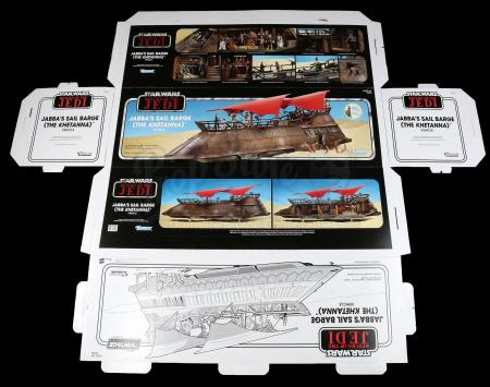 Lot # 179: Jabba the Hutt's Khetanna Sail Barge Box Flat
