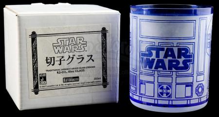 Lot # 440: R2-D2 Traditional Japanese Kiriko Drinking Glass (SDCC 2007)