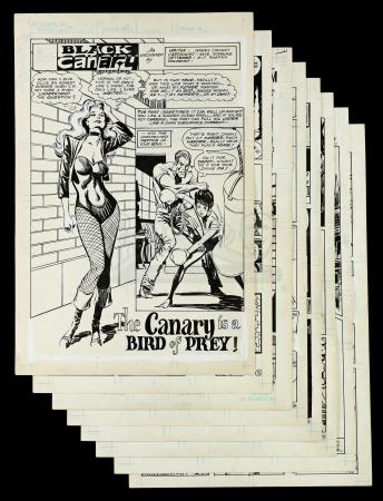 Lot # 446: Black Canary Secret Origins #10 p.2-4, 8-12 (Unpublished)