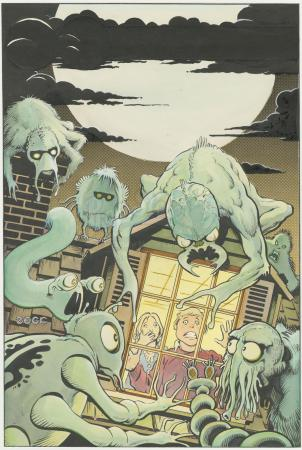 Lot # 453: Charlton Horror Cover (Unpublished)