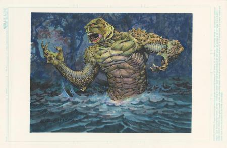 Lot # 454: Creature From The Black Lagoon Card Painting