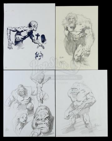 Lot # 461: Four Eric Powell Sketches (Unpublished)