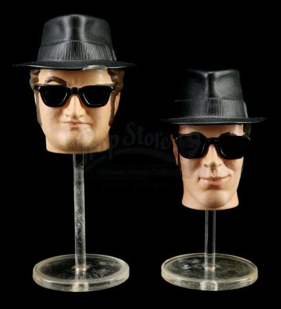 Lot # 559: Unproduced Hand-Painted Blues Brothers Prototype Heads