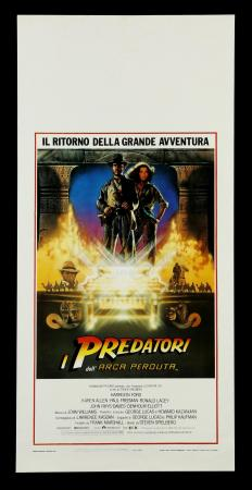 Lot # 573: Raiders of the Lost Ark Italian Poster [Kazanjian Collection]