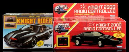 Lot # 577: Knight 2000 Model Kit and Knight 2000 Radio-Controlled Car and Transmitter - Sealed