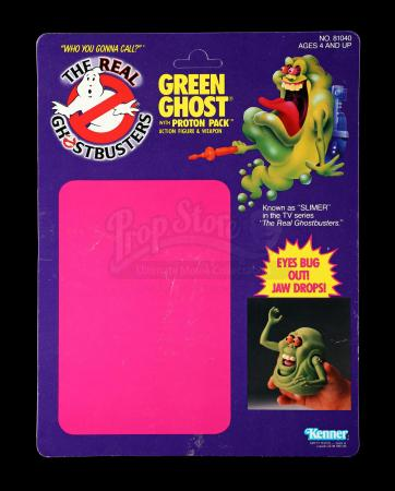 Lot # 608: Green Ghost with Proton Pack Proof Card