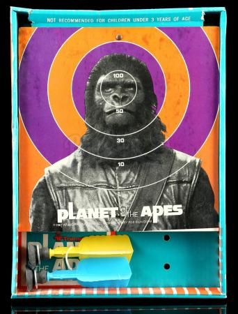 Lot # 620: Planet of the Apes Safety Dart Game