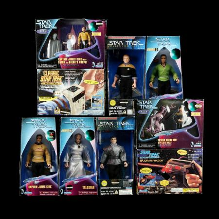 Lot # 654: Nine Star Trek Collectors Series Edition Toys