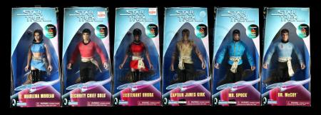 "Lot # 655: Six Mirror Universe 9"" Figures - Sealed"