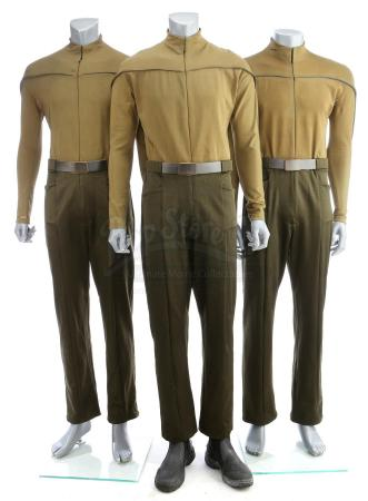 Lot # 16: STAR TREK (2009) - Kelvin Olive Uniform Set