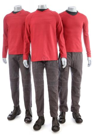 Lot # 170: STAR TREK (2009) & STAR TREK INTO DARKNESS (2013) - Three Men's USS Enterprise Operations Tunics