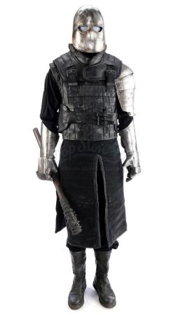 Lot # 74: ROBIN HOOD (2018) - Crossman Guard Costume with Shield and Mallet