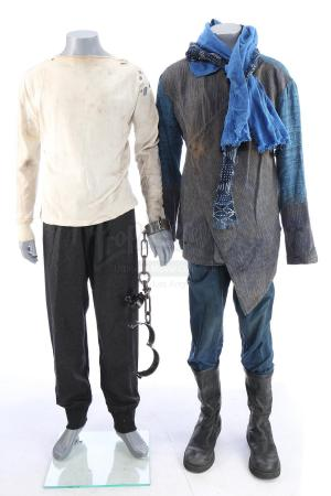 Lot # 88: ROBIN HOOD (2018) - John's Saracen and Prison Costumes with Handcuffs