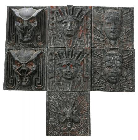 Lot #43 - AVP: ALIEN VS. PREDATOR (2004) - Set of Seven Antarctic Pyramid Tiles