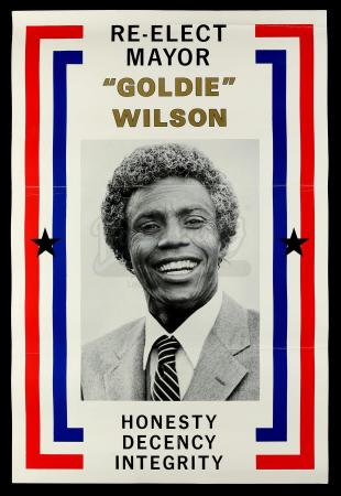 Lot #78 - BACK TO THE FUTURE (1985) - Mayor Goldie Wilson (Donald Fullilove) Campaign Poster