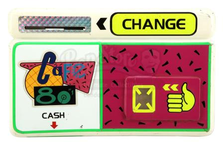 Lot #95 - BACK TO THE FUTURE PART II (1989) - Light-Up Cafe 80's Payment Device