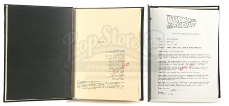 Lot #99 - BACK TO THE FUTURE PART II (1989)/BACK TO THE FUTURE PART III (1990) - Pair of Bound Scripts