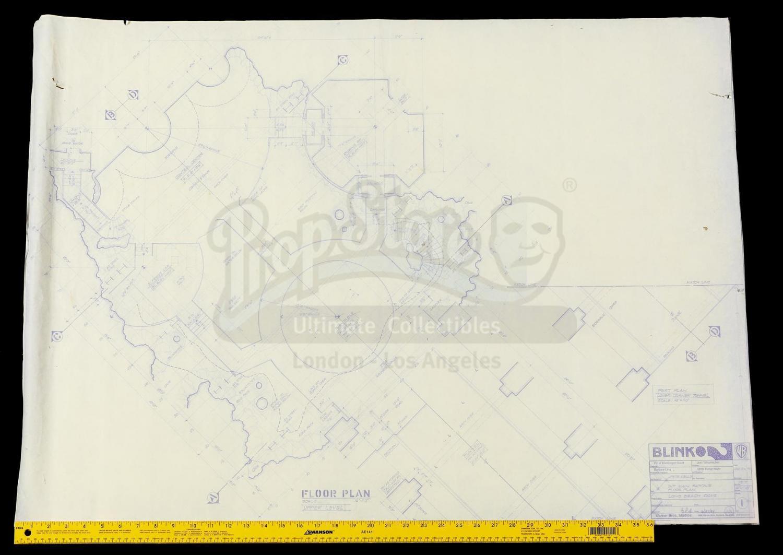 Lot 114 Batman Forever 1995 Set Of Three Batcave Floor Plan Blueprints Price Estimate 200 300