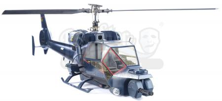 Lot #145 - BLUE THUNDER (1983) - 1:6 Scale Radio-Controlled Flying Blue Thunder Special Helicopter Model Miniature