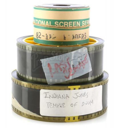 Lot #376 - INDIANA JONES TRILOGY (1981-1989) - Set of 35mm Trailer Film Reels