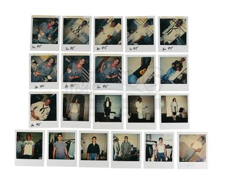 Lot #811 - TOP GUN (1986) - Set of Principal Character Continuity Polaroids Featuring Maverick (Tom Cruise)