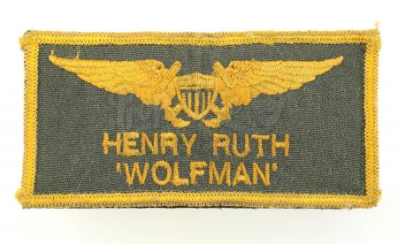"Lot #813 - TOP GUN (1986) - Leonard ""Wolfman"" Wolfe's (Barry Tubb) Flight Suit Patch"