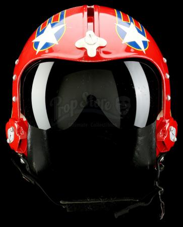 "Lot #814 - TOP GUN (1986) - Leonard ""Wolfman"" Wolfe's (Barry Tubb) Fighter Pilot Helmet"