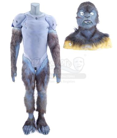 Lot #869 - X-MEN: FIRST CLASS (2011) - Beast's (Nicholas Hoult) Hairsuit and Cowl