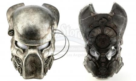 Lot #54 - AVP: ALIEN VS. PREDATOR (2004)/ALIENS VS. PREDATOR: REQUIEM (2007) - Ancient Predator (Ian Whyte) and Yautja Pilot Helmet
