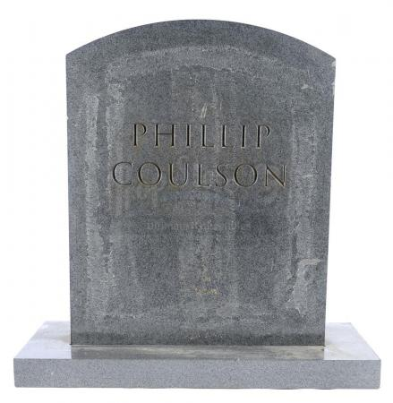 Lot #19 - Marvel's Agents of S.H.I.E.L.D. - Phil Coulson's Tombstone with Mackenzie Family Attachment