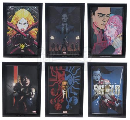 Lot #126 - Marvel's Agents of S.H.I.E.L.D. - Set of Six Framed Season 2 Production Office Prints