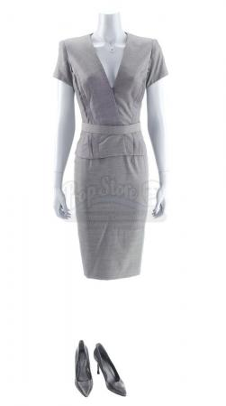 Lot #264 - Marvel's Agents of S.H.I.E.L.D. - AIDA's Gray Dress Suit with Snake Necklace