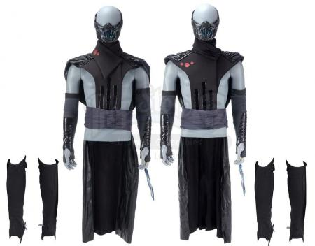 Lot #453 - Marvel's Agents of S.H.I.E.L.D. - Two Remorath Warrior Costume Components with Bone Claw Knives