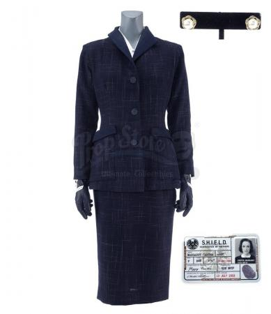 Lot #485 - Marvel's Agents of S.H.I.E.L.D. - Jemma Simmons' 1950s-Style 'Agent Carter' Costume with S.H.I.E.L.D. ID