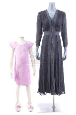 Lot # 7: THE HAUNTING OF HILL HOUSE - The Bent-Neck Lady First Appearance Costume with Young Nell's Pajamas
