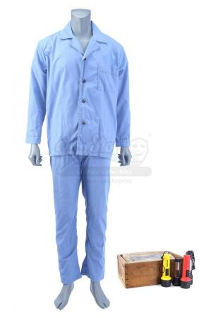 Lot # 23: THE HAUNTING OF HILL HOUSE - Younger Hugh's Pajama Costume with Box of Flashlights