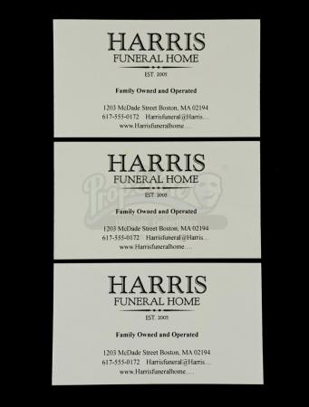 Lot # 60: THE HAUNTING OF HILL HOUSE - Harris Funeral Home Business Cards