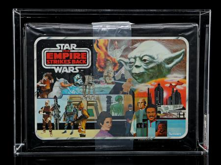 Lot # 20 - Vinyl Carrying Case (Yoda Artwork Version) AFA 80
