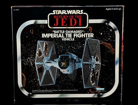 Lot # 50 - Battle-Damaged Imperial TIE Fighter - Sealed [Kazanjian Collection]