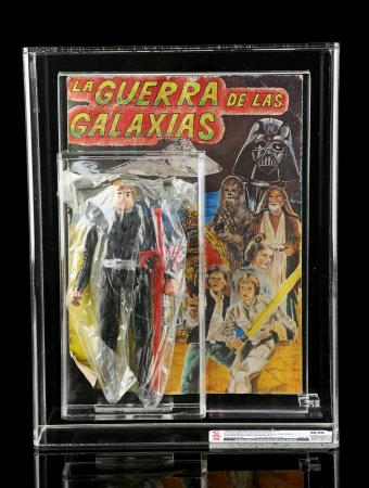 Lot # 59 - Luke Skywalker Jedi Knight With Thundercats Lion-O Red Sword Mexican Bootleg CAS 60