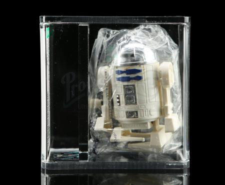 Lot # 73 - Takara Wind-Up Walking R2-D2 In Baggie AFA 85 [Kazanjian Collection]