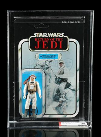 Lot # 94 - Palitoy Luke Skywalker (Hoth Battle Gear) ROTJ65 AFA 90 [Toy Toni]