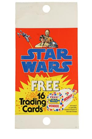 Lot # 111 - Star Wars Trading Card Wonder Bread Pole Display Card - Unused